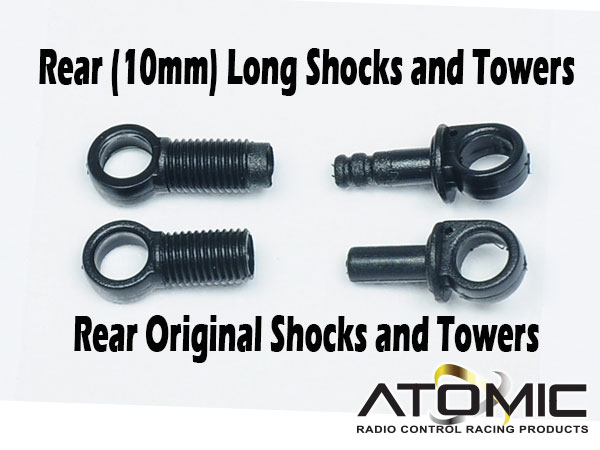 BZ2017 Rear (10mm) Long Shocks and Towers - Click Image to Close